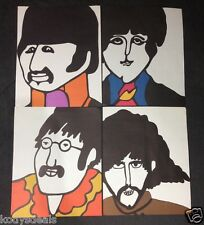 Beatles Yellow Submarine Artwork 1968 KFS Suba Poster Sheets Lot of 4 RARE Vtg