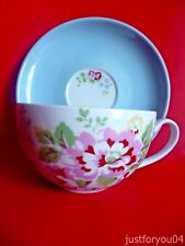 Cath Kidston Floral Spray Large Size Cup & Saucer - Very Good Condition.