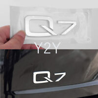 Chrome Q7 Emblem Sticker Trunk Decals for Audi Q7 SUV 2006-2018