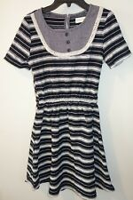 New Persnickety Black/White Stripe Laken Dress Girl's Size 16