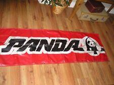 RARE GO CART PANDA VINYL BANNER 6 X 2 Feet 1980's go cart racing banner