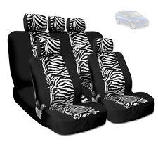 NEW PREMIUM GRADE BLACK MESH ANIMAL ZEBRA TIGER PRINT SEAT COVERS FOR MAZDA