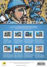 France 2018 war resistance Memory Heroes soldier Roland Garros Marie Curie 8v **