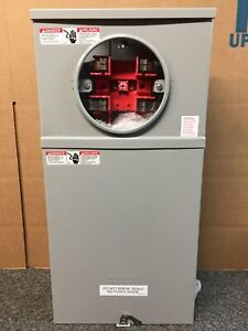 NEW- Milbank 114TB -RP  100A 4 Jaw 3 Wire  Single Phase Meter Socket