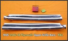 NOS 1946-1948 Plymouth Grille Bar Pair 1947 P15 Special Deluxe Convertible