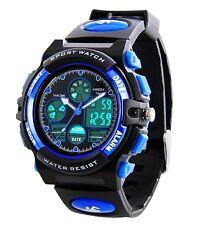 Kids Sports Digital Watch -Boys Waterproof Outdoor Analog Watch with Alarm