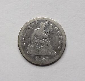 1858 Seated Liberty Quarter - Philadelphia Mintage - 90% Silver