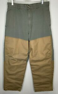 Browning Hunting Pants Green With Tan Canvas Overlay 32 x 30  rn 73755 ca 04728