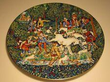 Colorful Haviland Limoges La Chasse a la Licorne 1975 Lmt. Ed. Unicorn Plate