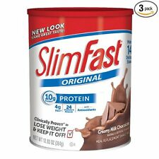 Slim Fast Original, Meal Replacement Shake Mix, Milk Chocolate, 12.83 Oz, 3 Pack