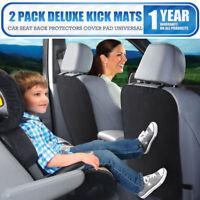 2 x Car Baby Seat Back Protector Cover Children Kick Mat Anti Kicking Padded New