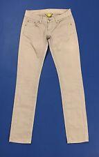 yes miss jeans donna W26 tg 40 skinny gamba stretta slim vita bassa rosa T1959
