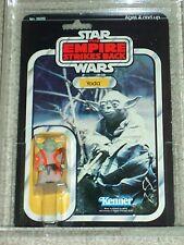 Vintage Star Wars 1980 AFA 75/80/85 YODA ESB 32 Back-B card MOC CLEAR BUBBLE!