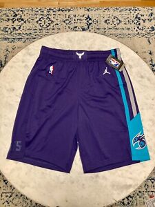 NBA Charlotte Hornets Jordan Authentic On Court Game Issue Shorts Sz 36(+1) L