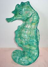 """New listing Coastal Collection Melamine Sea Horse Serving Plate 12"""" Tray Dish Snack"""