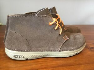 CROCS M7/UK6-7 Mens Brown Thompson Lace Up Desert Boot Worn Once