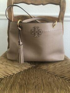 Tory Burch McGraw Triple Compartment Devon Sand Handbag