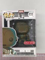 Funko Pop! Marvel 80th - Iron Man (Patina) #498 Target Exclusive NOT MINT BOX F2