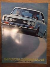 Original Vintage 1970 Toyota Corona Mark II 4-door Sedan 2-door Hardtop Brochure