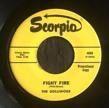 Golliwogs, Scorpia 405, Fight Fire & Fragile Child, Yellow label promo
