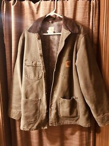 CARHARTT FR JACKET QUILT-LINED LARGE L REGULAR Barn Work Coat