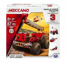 Meccano Rescue Squad 3 In 1 Model Building Kit Stem Education Toy Same day Post
