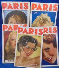 Lot de 5 Paris Magazine 1935 N° 43-47-47-48-49...
