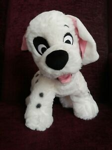 Disney Store Exclusive Patch 101 Dalmatians plush with badge 12 inch Rare