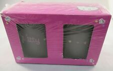 Sanrio - Hello Kitty Party Kitchen Dinnerware Frosted Glass Beaker Cups   NEW
