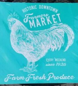 """NEW Chalk Couture Transfer Farmers Market Rooster 18""""x18"""" RETIRED Farm Market"""