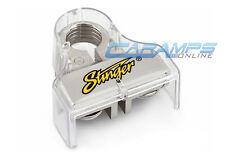 NEW STINGER POSITIVE DUAL RING SHOC-KROME PLATINUM CAR STEREO BATTERY TERMINAL