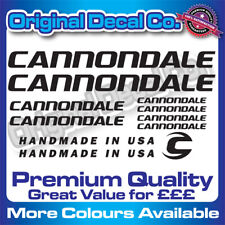Premium Quality Cannondale Bike Stickers Decals mountain bike frame + FREE GIFT
