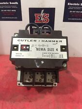 Cutler Hammer Contactor Size 4 C10FN3 Series A1 120 V Coil