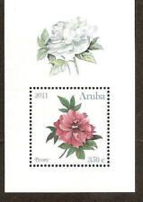 Aruba 2011 Roos Pioenroos Rose Peony S/S MNH
