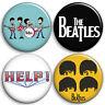 The Beatles - Button Badges - 25mm 1 inch - Lennon McCartney - Parody Style