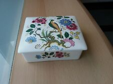 Vintage Purbeck Ceramics Swanage Floral And Bird Design Dish  with lid