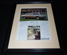 1987 Jaguar Vanden Plas Framed 11x14 ORIGINAL Vintage Advertisement