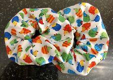 Hair Scrunchies - Mini Colourful Hedgehog Print - Handmade