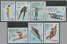 LAOS N°525/531** Jeux olympiques d'hiver (Sarajevo) 1984 Olympic games set MNH