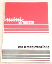 B406AH - LIBRETTO USO E MANUTENZIONE MINI DE TOMASO