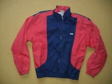 Vtg DESCENTE Blue/Red Nylon WINDBREAKER JACKET Track Cycling Coat Size Men LARGE