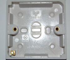 Seule surface box white EN60670-1 19mm costumes interrupteurs etc taille standard