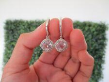 .34 Carat Diamond White Gold Dangling Earrings 14k SE554 sepvergara
