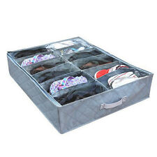 12Pairs Shoes Organizer Holder Under Bed Closet Storage Fabric Bag Box Case