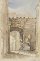 Margaret (Daisy) George - Mid 19th Century Watercolour, Italian Street Scene