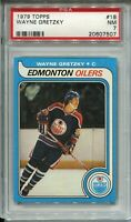 1979 '79 Topps Hockey #18 Wayne Gretzky Rookie Card RC Graded PSA Nr Mint 7