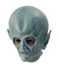 #ALIEN OVERHEAD UFO RUBBER MASK FANCY DRESS SUPERNATURAL HALLOWEEN ACCESSORY