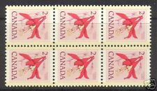 Canada #707 NH Mint Changeling Block Of Six