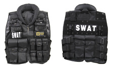 Halloween Costumes Military Airsoft Paintball Tactical SWAT POLICE Vest Black
