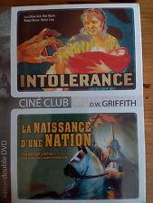 C29 / 2 DVD : INTOLERANCE / LA NAISSANCE D'UNE NATION les 2 de D.W. GRIFFITH